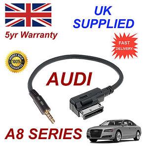 AUDI-A8-Series-ami-mmi-4f0051510f-Musica-Interfaz-Jack-de-3-5mm-Entrada-Cable