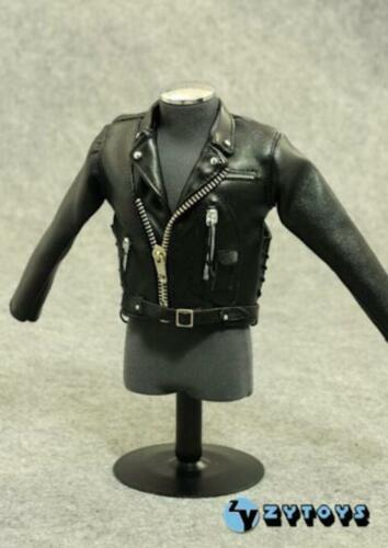 1//6 Terminator T-800 Arnold Black Leather Motorcycle Suit Set for 12/'/' MALE Body