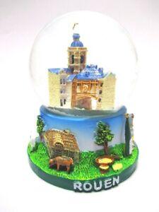Rouen-Gros-Horloge-Schneekugel-Snowglobe-Souvenir-Frankreich