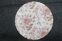 "VINTAGE JOHNSON BROS ROSE CHINTZ PORCELAIN  10"" DINNER PLATE TRANSFERWARE"