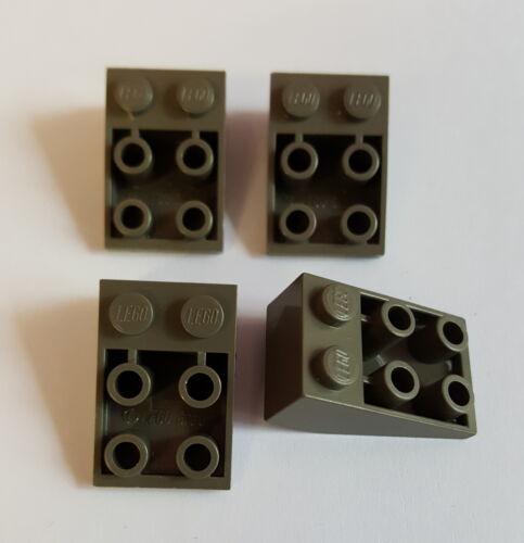 LEGO 3747 Schrägstein Invers 2x3 Alt Dunkelgrau 4 Stück 59