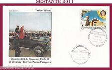 W466 VATICANO FDC ROMA GIOVANNI PAOLO II WOJITYLA TARIJA BOLIVIA 1988