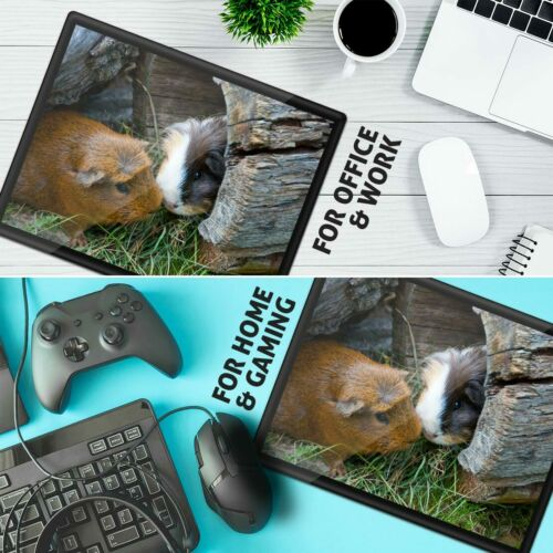 Placemat Mousemat 8x10 Cute Guinea Pig Couple Pet Animal  #8247