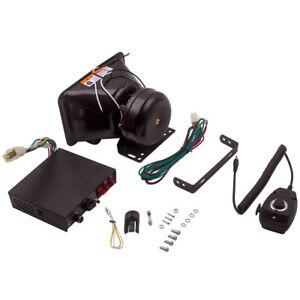 200W 9 Sound Loud Car Warning Alarm Horn PA Speaker MIC System Kit