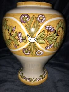 """L'antica di Deruta pottery vase urne pot bocal # serait de 400 signé 11"""" H-afficher le titre d`origine 1FRvMJS4-09163449-715608398"""
