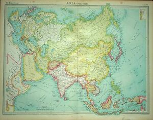 1920 LARGE MAP ~ ASIA ~ POLITICAL ~ 23\