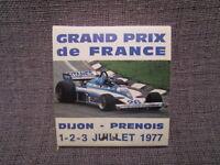 Pochette allumettes publicitaire:LIGIER GITANES,grand prix de France 1977