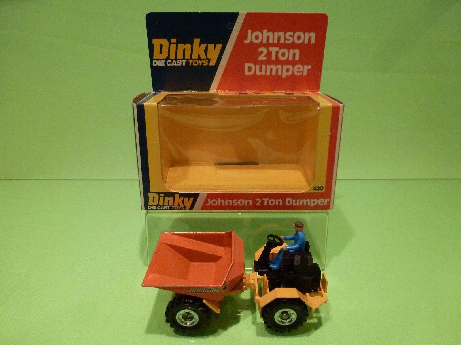 DINKY TOYS 430 JOHNSON 2TON DUMPER - amarillo + naranja - GOOD CONDITION IN BOX