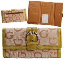 Women Trifold Wallet Fashion Buckle Cash Credit Card Photo ID Holder #MW050 Gold