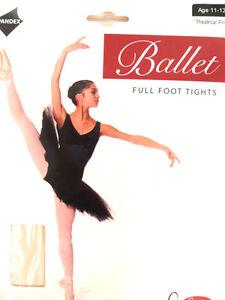2 Paires de Convertible Collants Danse Ballet Enfants Femmes en Rose Pack Deux