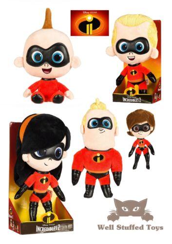 "Incredibles 2 Official Movie Gift Boxed Plush 10/""Bob Dash Helen Violet Jack Jack"