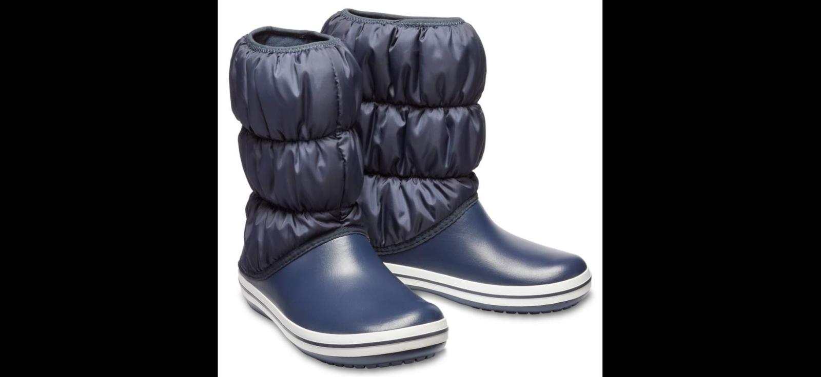 Crocs Winter Puff Warm Lined Winter Snow Soft Fashion Fashion Fashion Damenschuhe Stiefel Größe 3-9 d4a057