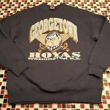 VTG 80's 90s Georgetown University Hoyas XL Sweatshirt NCAA Football Basketball