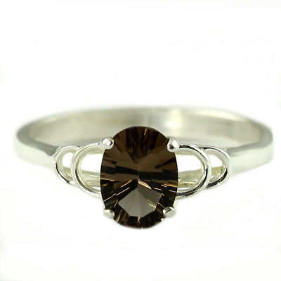 925 Sterling Silver Ladies Ring,SR005-Handmade Details about  /Smoky Quartz