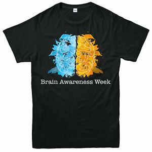 Cerveau-la-semaine-de-sensibilisation-aux-T-shirt-Mental-Health-Matters-Adultes-amp-Enfants-Tee-Top