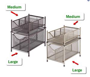 under the sink slide out cabinet drawer storage organizer kitchen bathroom home ebay. Black Bedroom Furniture Sets. Home Design Ideas