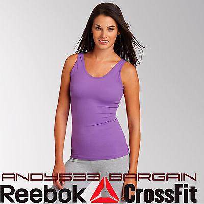 $75 REEBOK Womens Shapewear Tank PlayDry® Shape Lift Long Top Slim Fit Stretch M