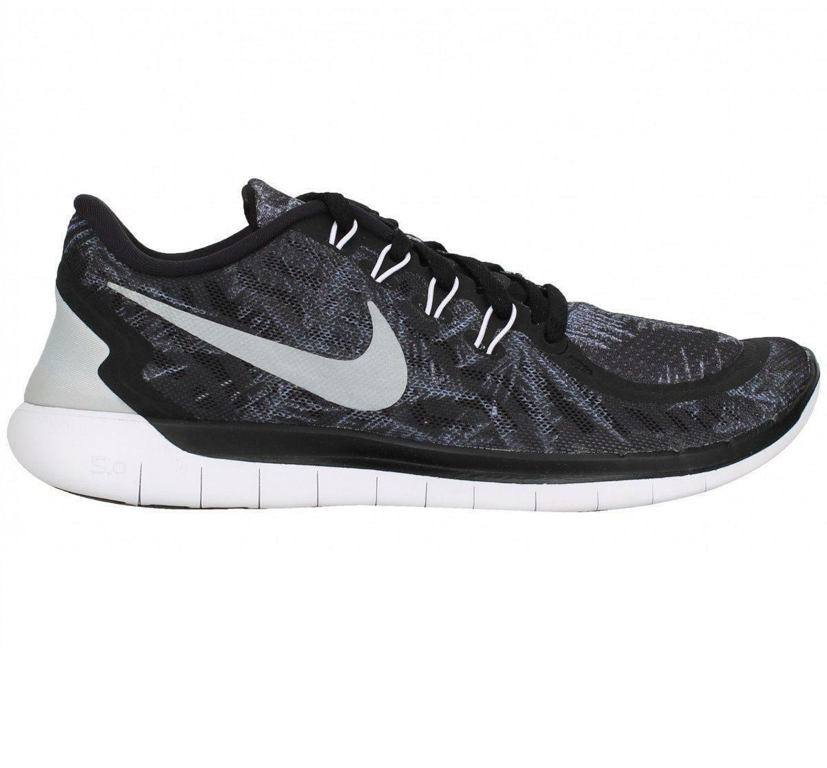 Zapatos promocionales para hombres y mujeres Womens NIKE FREE 5.0 SOLSTICE Black Running Trainers 806588 001