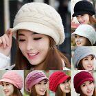 femmes hiver chaud CHAPEAU tricoté CROCHET SOUPLE bouffant bonnet