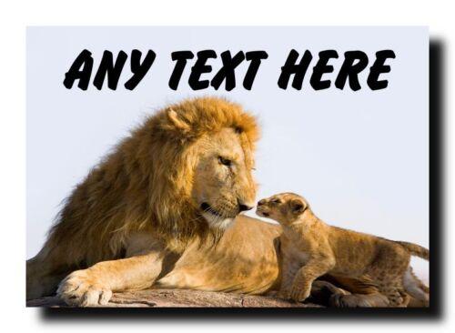 Lion et mignon Cub personnalisé Jumbo Aimant