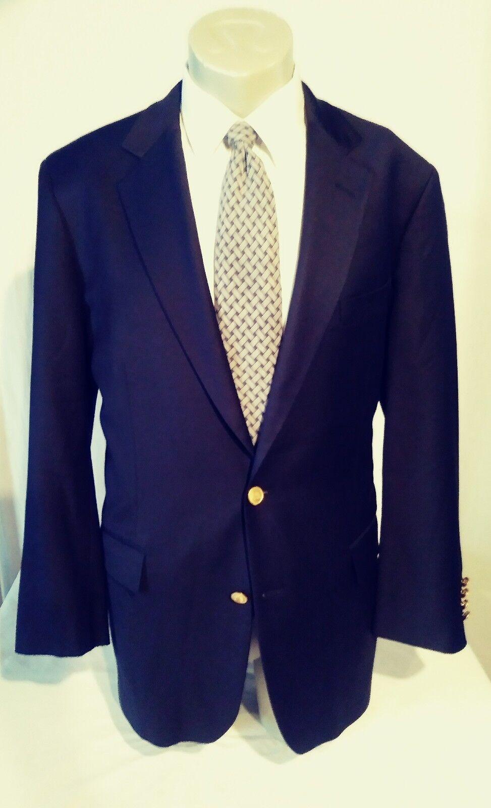 Mens Brlooks Bredhers Ing Lgold Piana &  navy bluee sports blazer sz 42L