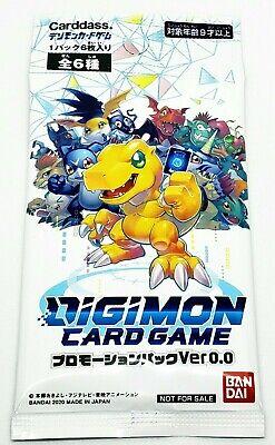 Digimon Card Game Ver 0.0 Promotion Promo Pack Sealed Japanese 2020 Anime Bandai