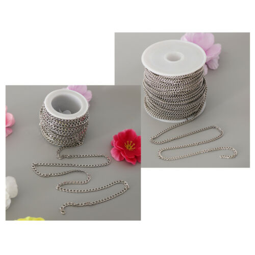 Silver Stainless Steel Cable Link Chain Spool Bulk for Jewelry Making DIY