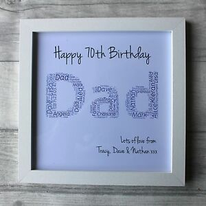 Image Is Loading Personalised 70th Birthday Gifts For Men Grandad Male
