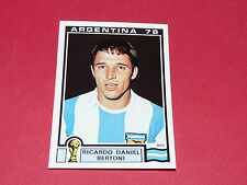 105 BERTONI 1978 ARGENTINA 78 FOOTBALL PANINI WORLD CUP STORY 1990 SONRIC'S