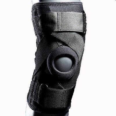 XL McDavie Black Level II Ligament Open Knee Patella Stays Support Brace Sleeve