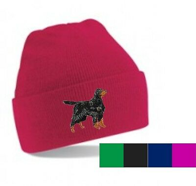 Gordon Setter Beanie Hat  Embroidered by Dogmania