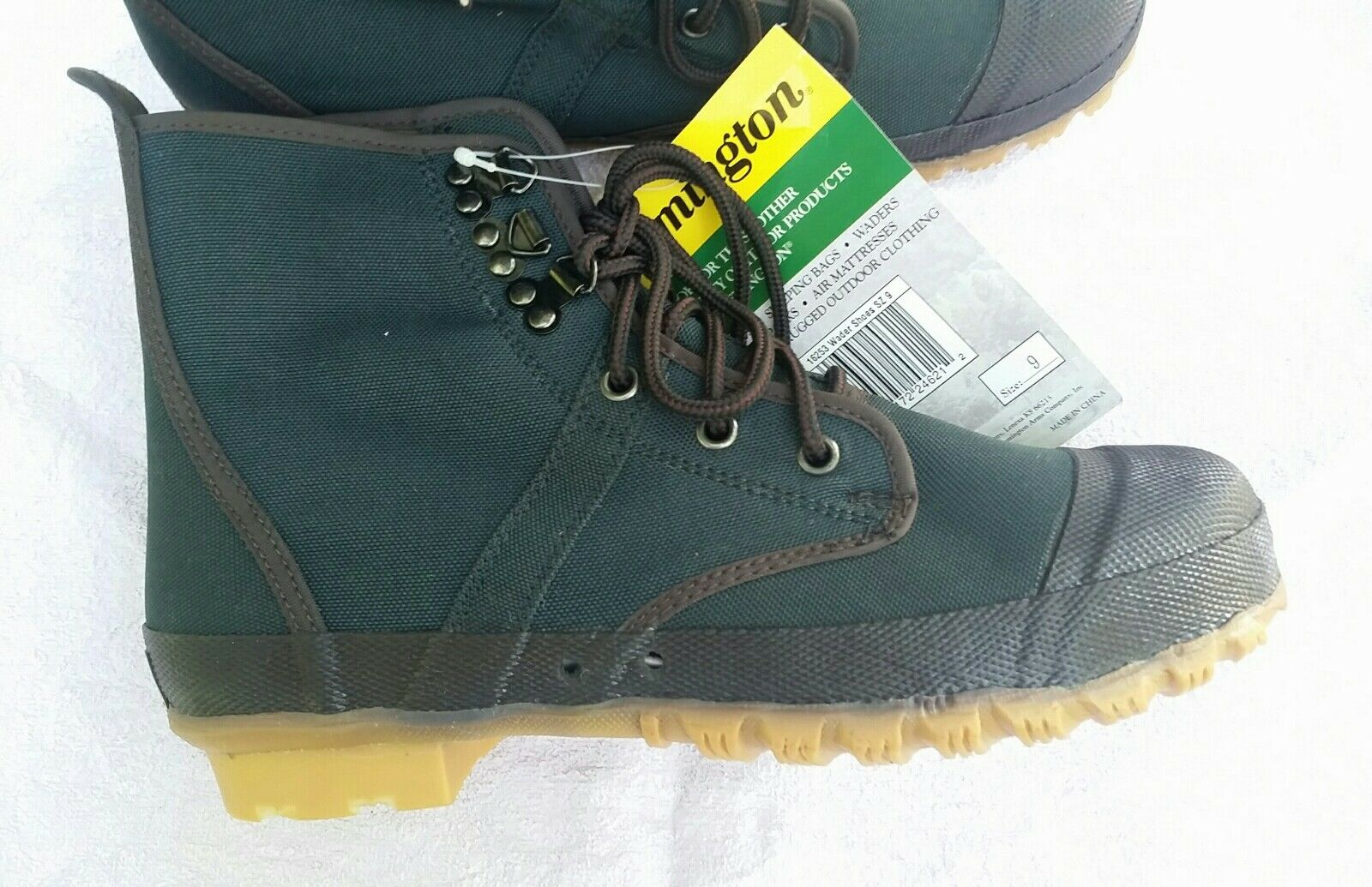 Remington 840 Denier Nylon Oxford Wader shoes with Lug Sole - Size 9, Dark Green