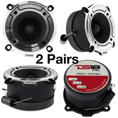 """DS18 PRO-TW120 1/"""" VC Bullet Super Loud Car Audio Speaker Tweeter 300W 4 ohm Pair"""