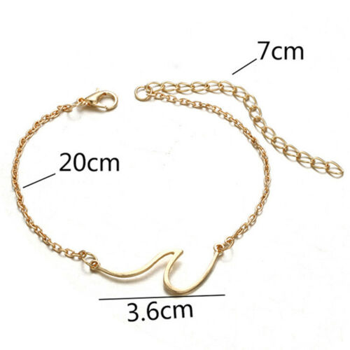 Simple Wave Chain Anklet Ankle Bracelet Barefoot Sandal Beach Foot JewelryJC