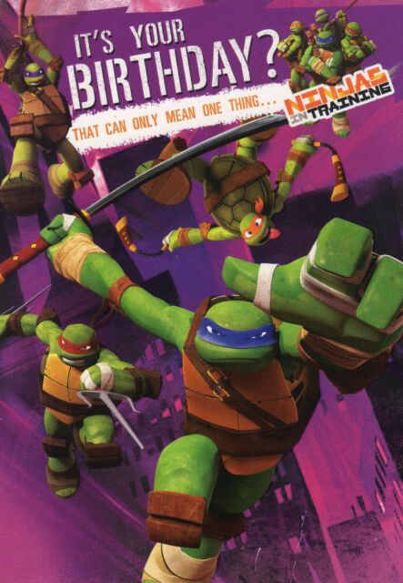 Teenage Mutant Ninja Turtles Birthday Card by Hallmark eBay