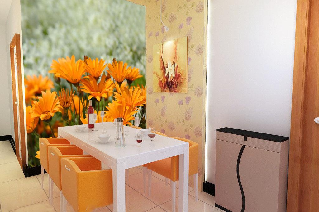 3D Gelb flowers 1A WallPaper Murals Wall Print Decal Wall Deco AJ WALLPAPER