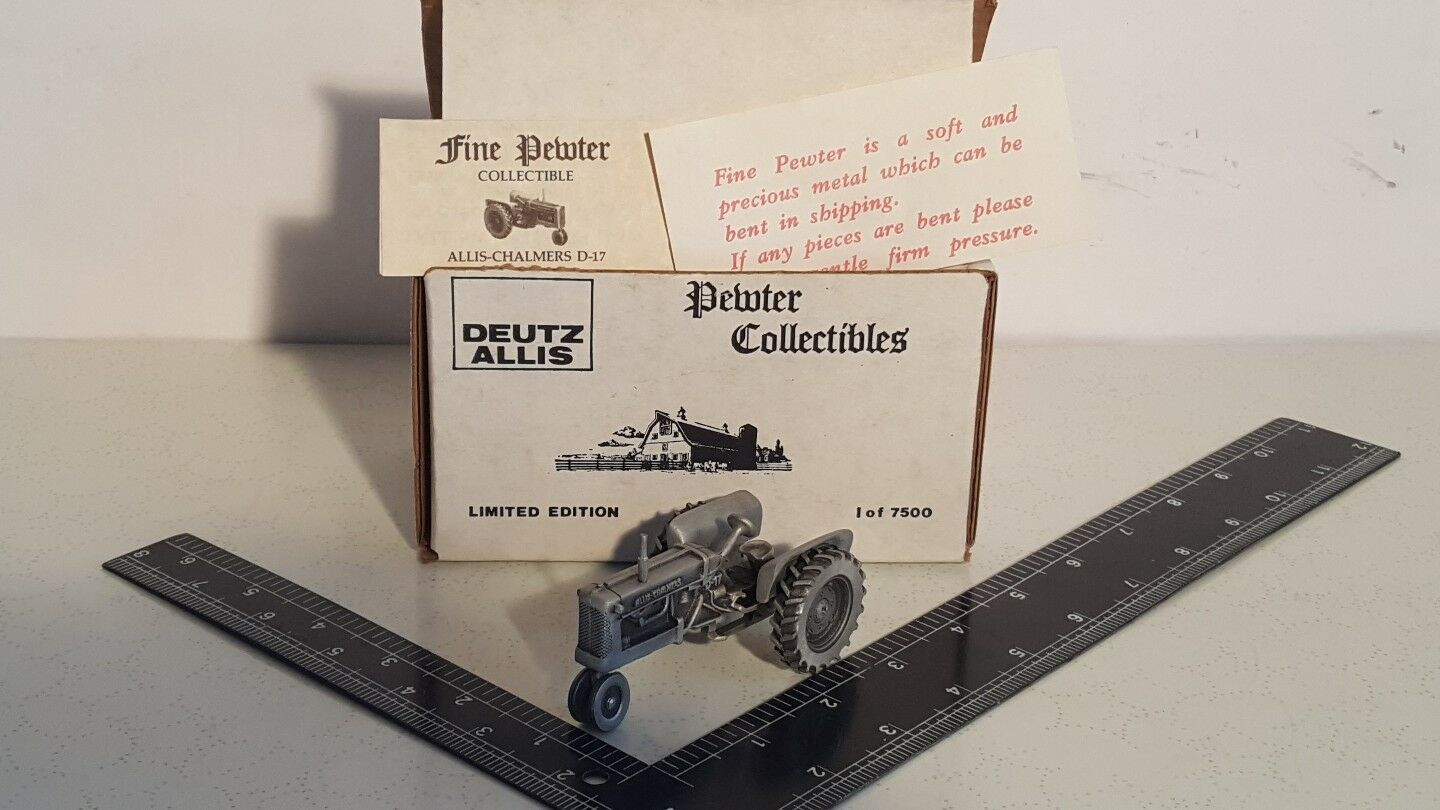 Allis Chalmers D-17 in pewter 143rd farm tractor replica collectible by SpecCast