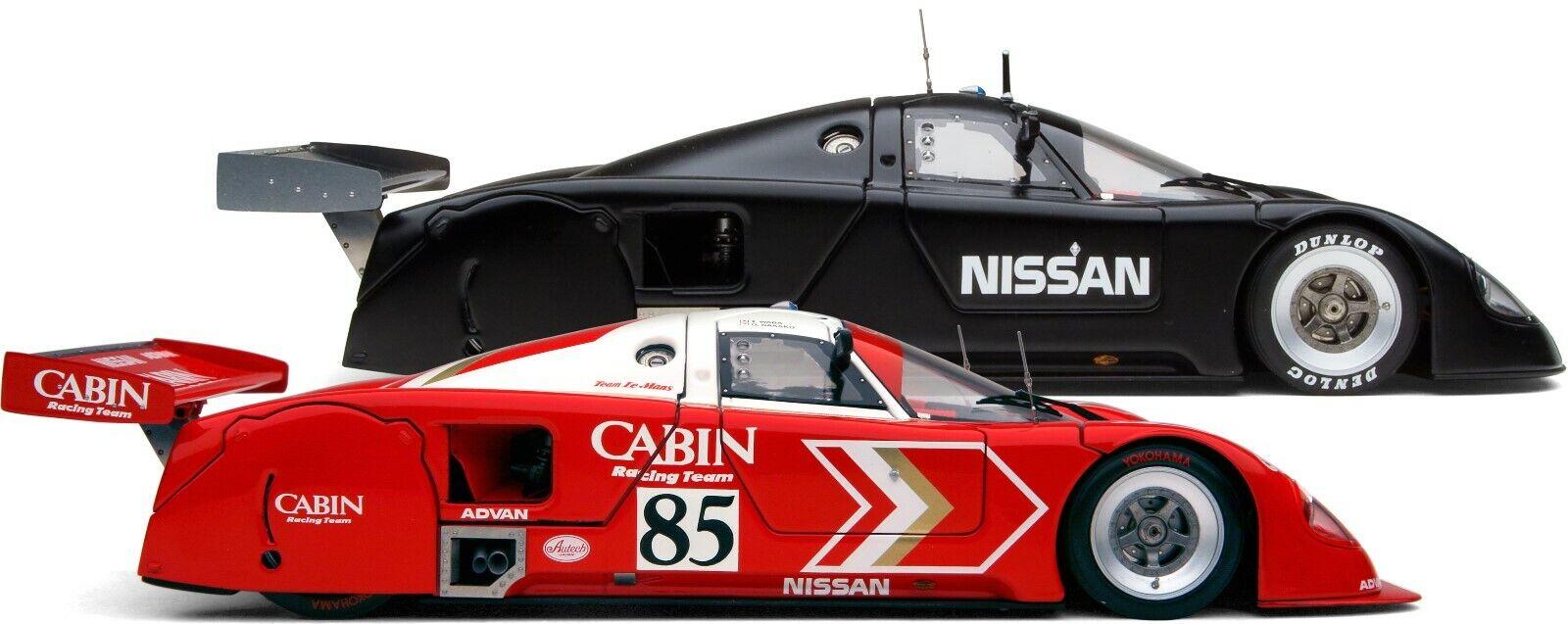 Exoto   1 18   Especial Set   Clásico Nissan R89C & R90V   Beautiful rosso o