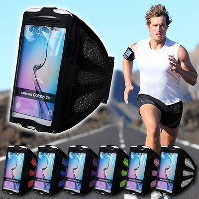 Sports Gym Running Armband Arm Band Case Holder for Samsung Galaxy S5 S6 Note 4