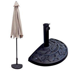 Image Is Loading 10 039 FT Half Umbrella Feet Beige Outdoor