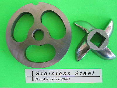 #5 2-hole kidney plate for LEM Cabelas Smokehouse Chef Chef Choice STAINLESS