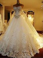 New White/Ivory Wedding Dress Bridal Gown Stock UK Size:8/10/12/14/16/18/20