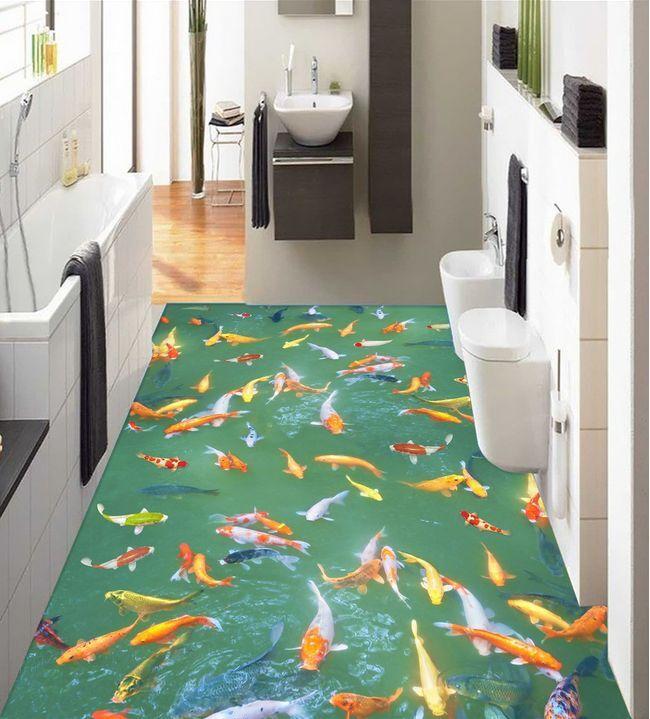 3D Fisch Wasser bunt 937 Fototapeten Wandbild Fototapete Bild Tapete Familie
