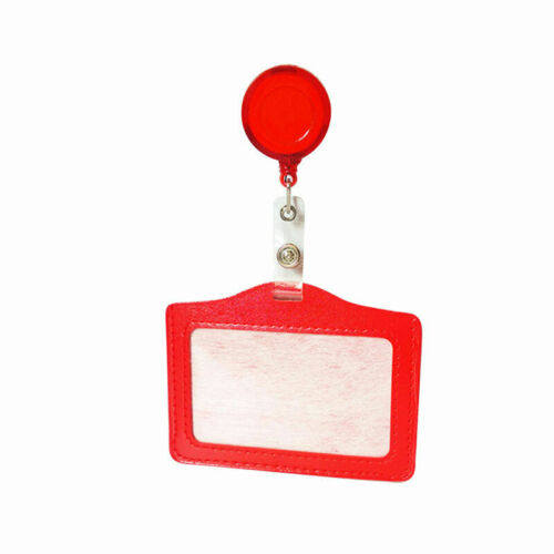 1 Pcs ID Card Badge Holder With Lanyard Retractable For School Office E8L5