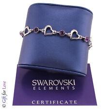 Bracciale Tennis argento Swarovski Element originale G4Lov cristalli donna cuori