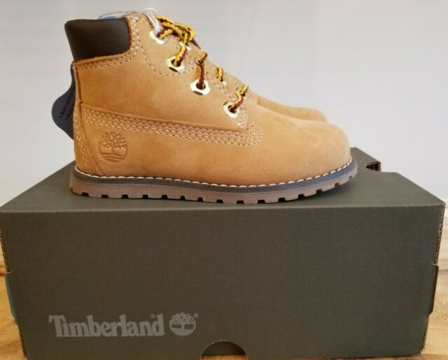 NEW IN THE BOX TIMBERLAND WHEAT 6 INCH POKEY PINE SIDE ZIP BOOT FOR TODDLER