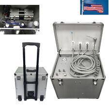 New Listingmobile Dental Portable Rolling Case Delivery Turbine Unit Three Way Syringe Usa