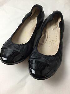 1ce20c153 Image is loading Clarks-Signature-Flat-Ballerinas-Black-amp-Patent-Leather-