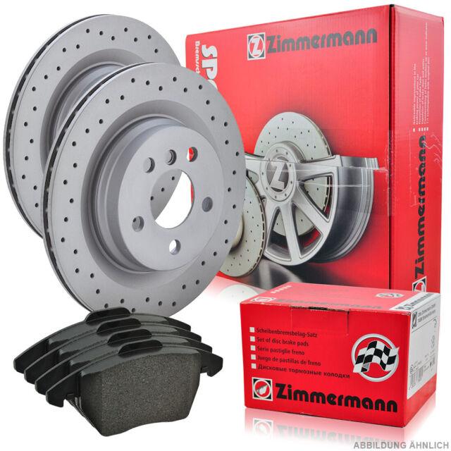 ZIMMERMANN SPORT Bremsscheiben 278x9mm Beläge hi. MB C W203 E W210 SLK R170 R171