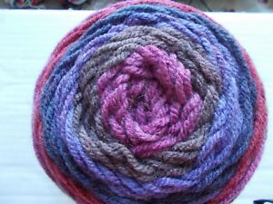 Details about Caron Cakes gradient wool blend yarn, Blackberry Mousse, 1  skein (383 yds)